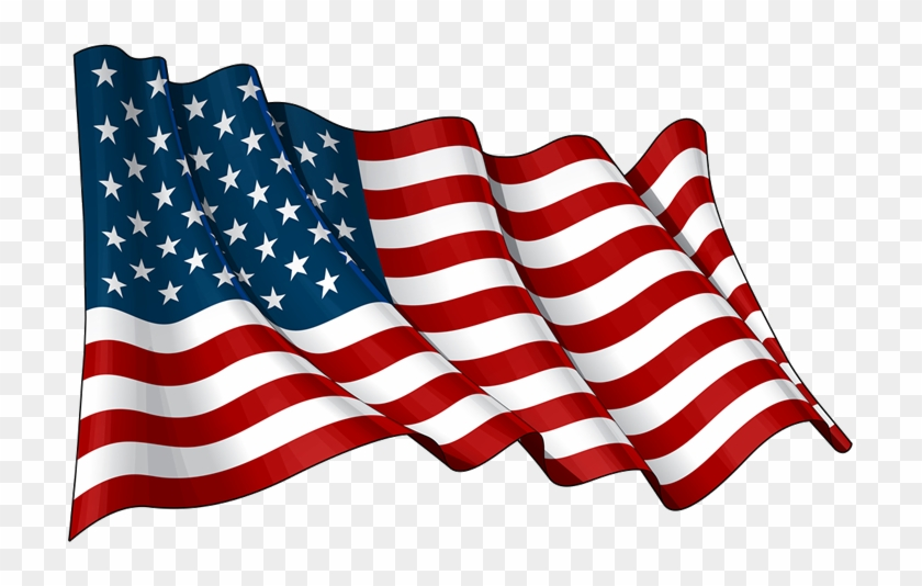 United States Of America Flag Png Transparent Images - Drawing Waving American Flag #301197