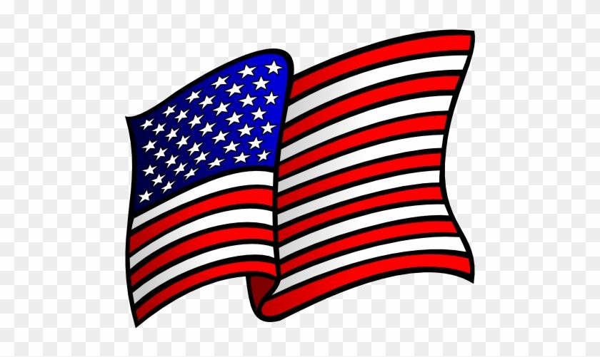 Waving American Flag Clip Art - Patriotic Symbols Clip Art #301238