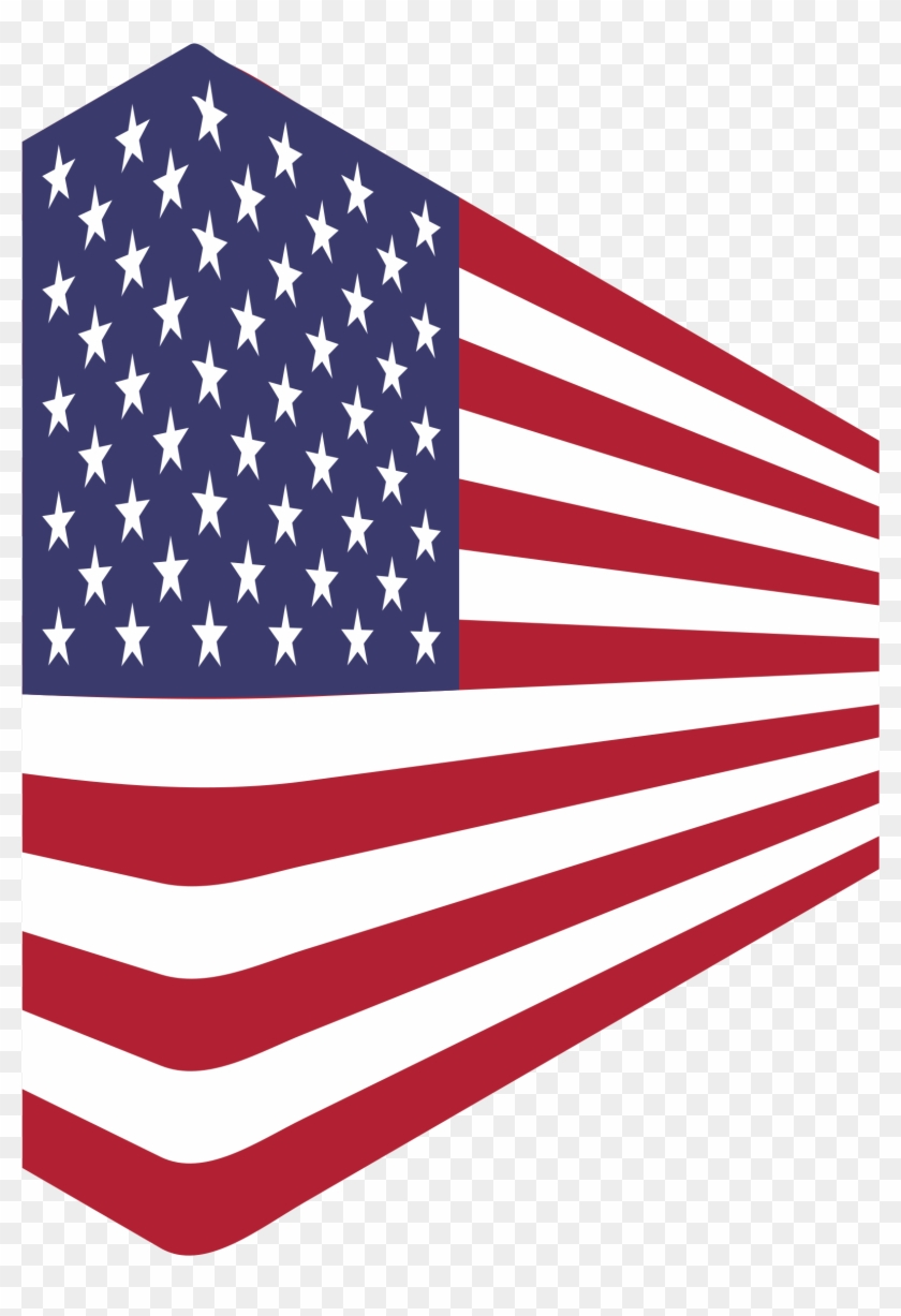 Usa Flag Perspective - American Flag 1 Point Perspective #301362
