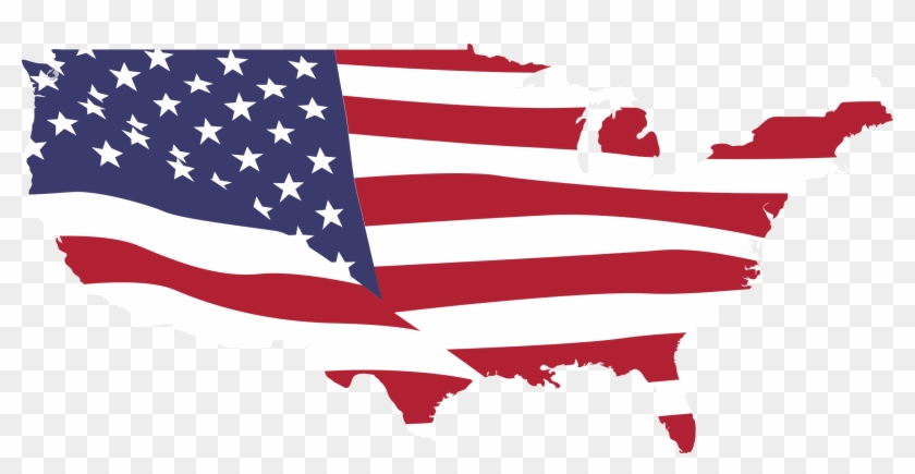 Usa Map Flag - Map Of Usa Clip Art - Free Transparent PNG Clipart ...