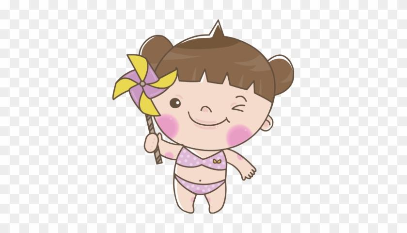 Bikini Clipart Kid Swimsuit Girl In A Bathing Suit Clipart Free