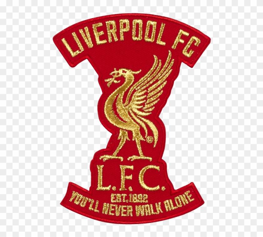 8e06bdb75 Lfc Liverbird Metallic Gold Thread Patch - Liverpool Fc Logos Bird ...