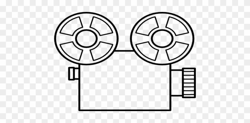 Broken Movie Camera Old Tape Clip Art At Vector Online - Video Camera Line Drawing #302099