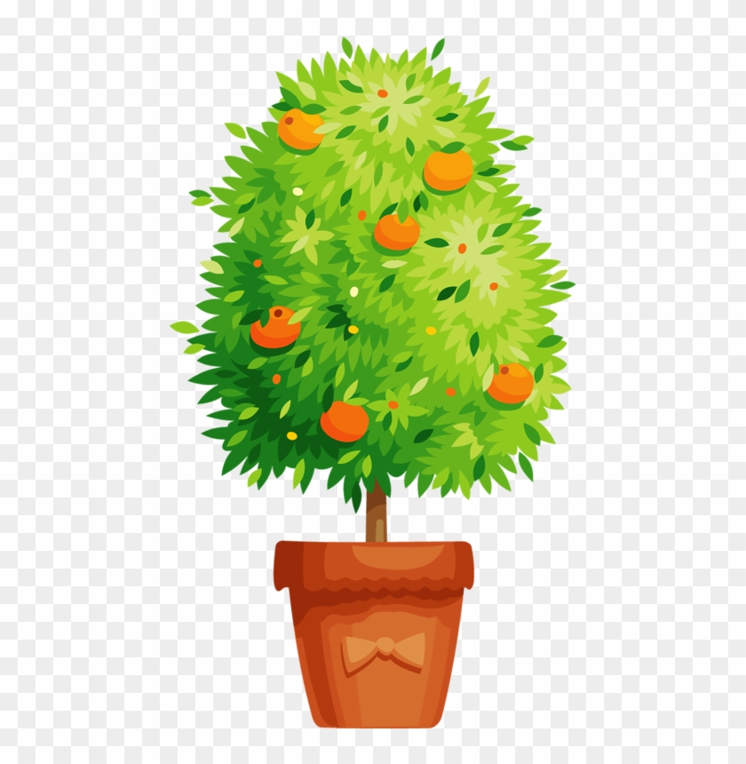 Potted Trees, Potted Flowers, Potted Plants, Orange - Flower Pot Vector Png #302451