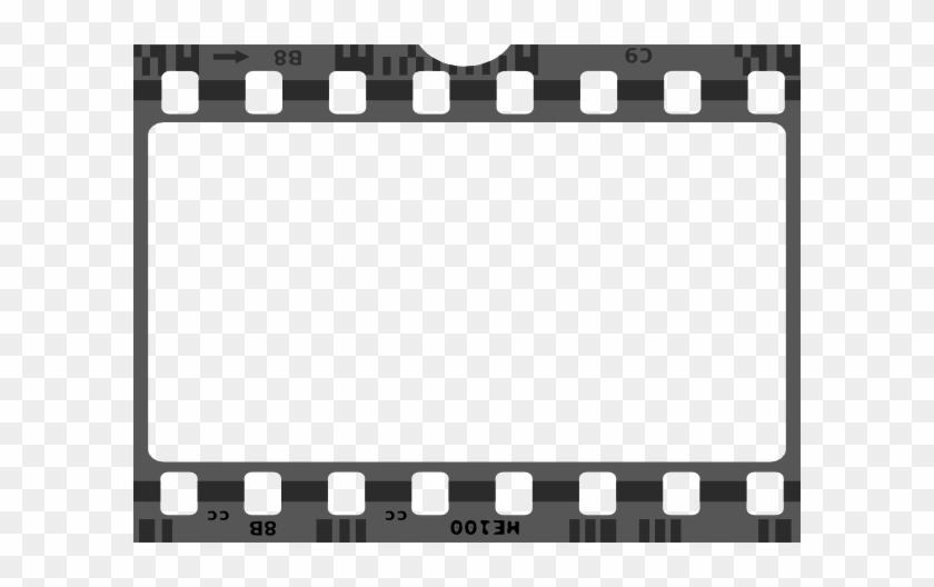 Movie Film Border Clip Art At Clker - Film Strip Png Transparent #302730