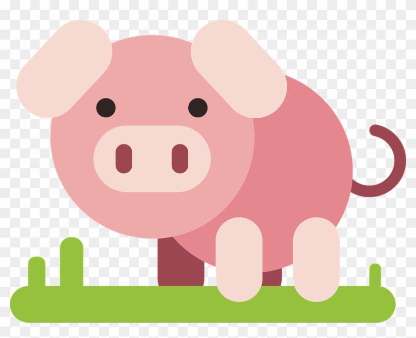 Pig, Animal, Comic, Comic Drawing, Drawing, Flat - Pig Drawing #302828
