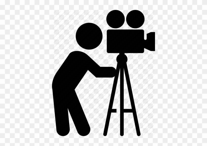 Video Camera Tripod Png Pic - Video Camera Icon - Free Transparent