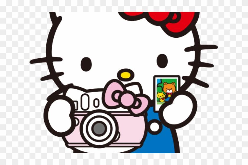 Camera Clipart Hello Kitty - Hello Kitty Clock Hand Made - Free