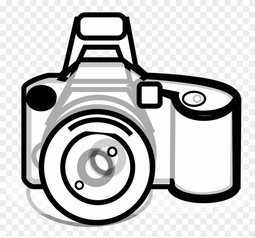 Clipart Of Lens, Photography And Kodak - Black And White Camera Clip