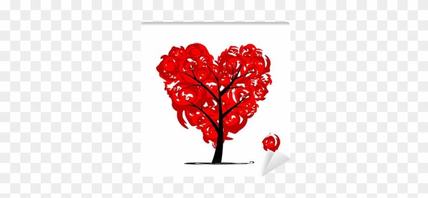 Love Tree, Heart Shape For Your Design Wall Mural • - Arbre De Vie En Coeur #303134