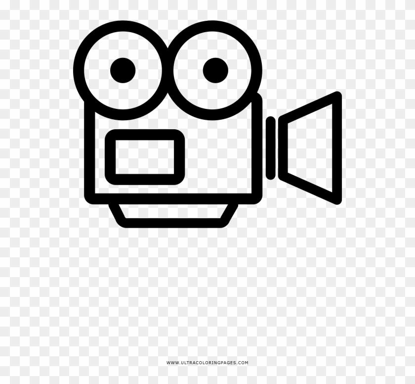 Video Camera Coloring Page Desenho De Filmadora Para Colorir