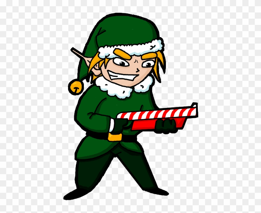 "Xmas 2017 Special Saturday At Tuddenham €"" Gunman - Christmas Elf With Gun #303348"