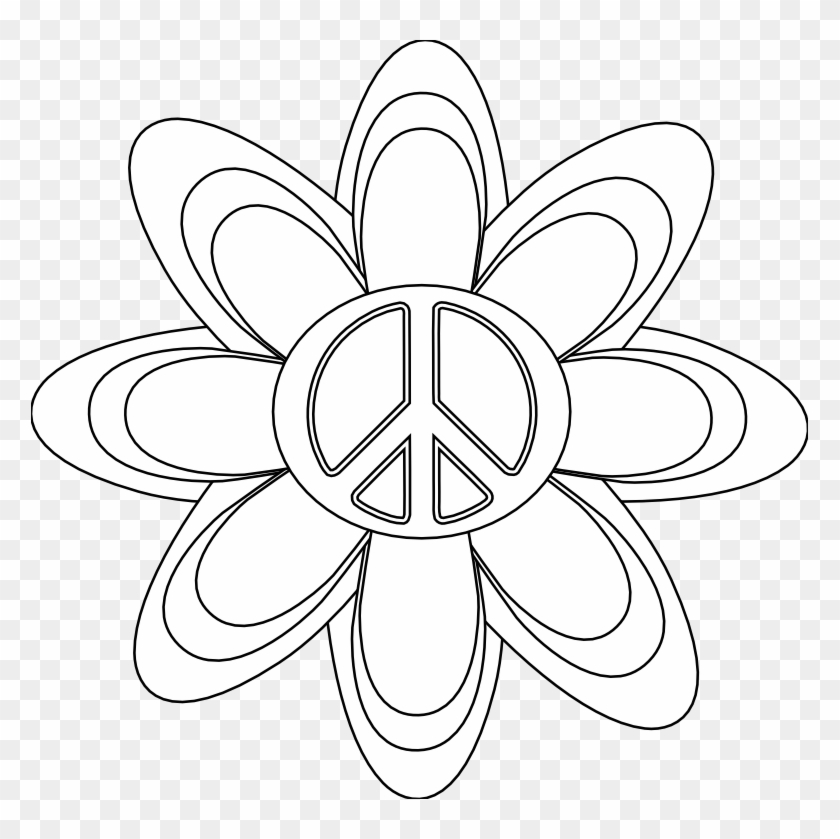 Free Printable Peace Sign Coloring Pages | 839x840