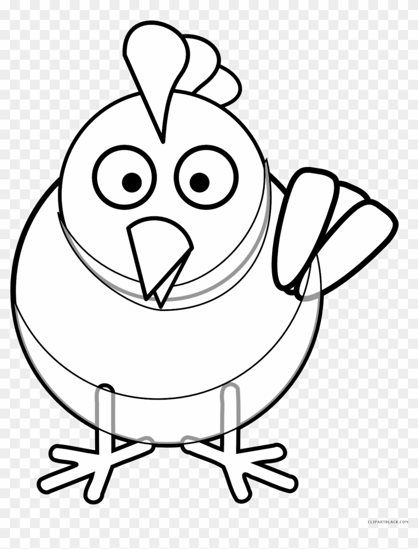 Black And White Chicken Animal Free Black White Clipart Coloring