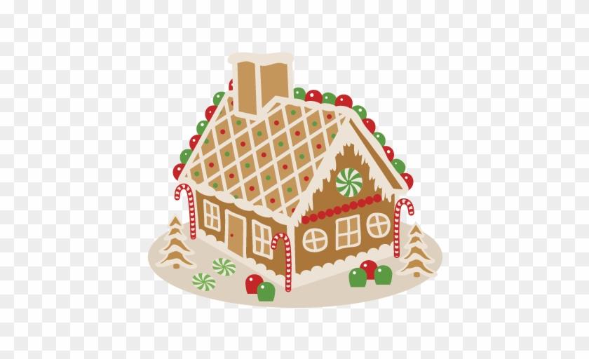 Gingerbread House Svg Scrapbook Cut File Cute Clipart - Gingerbread House Clipart Transparent #303792