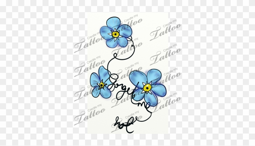 Marketplace Tattoo Forget Me Not Vine And Flower Designs