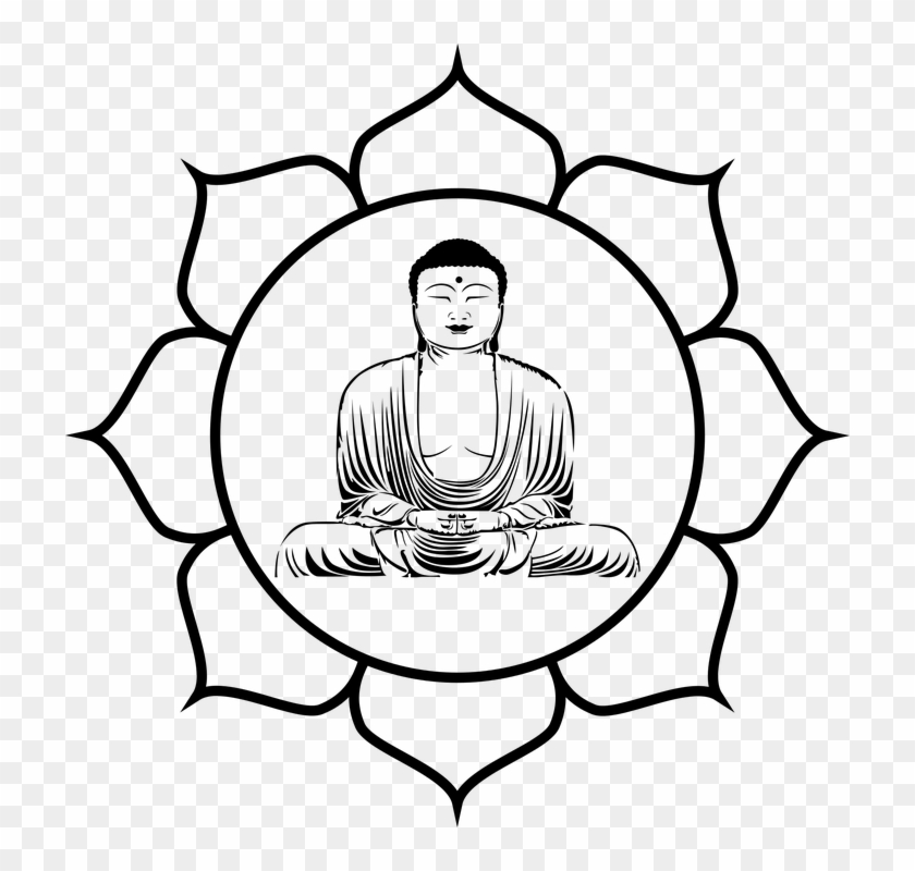 Lotus Flower Line Drawing 8, Buy Clip Art - Different Peace Symbols From Cultures #304525
