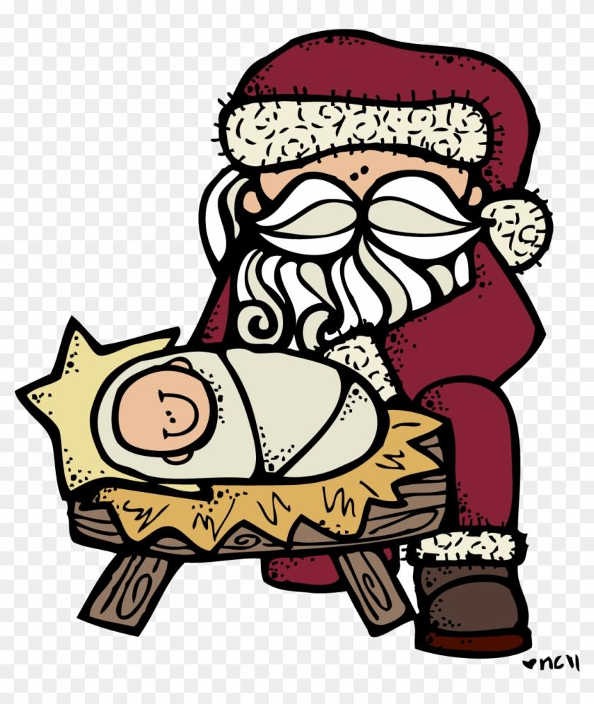 Santa And Jesus - Melonheadz Christmas #304603