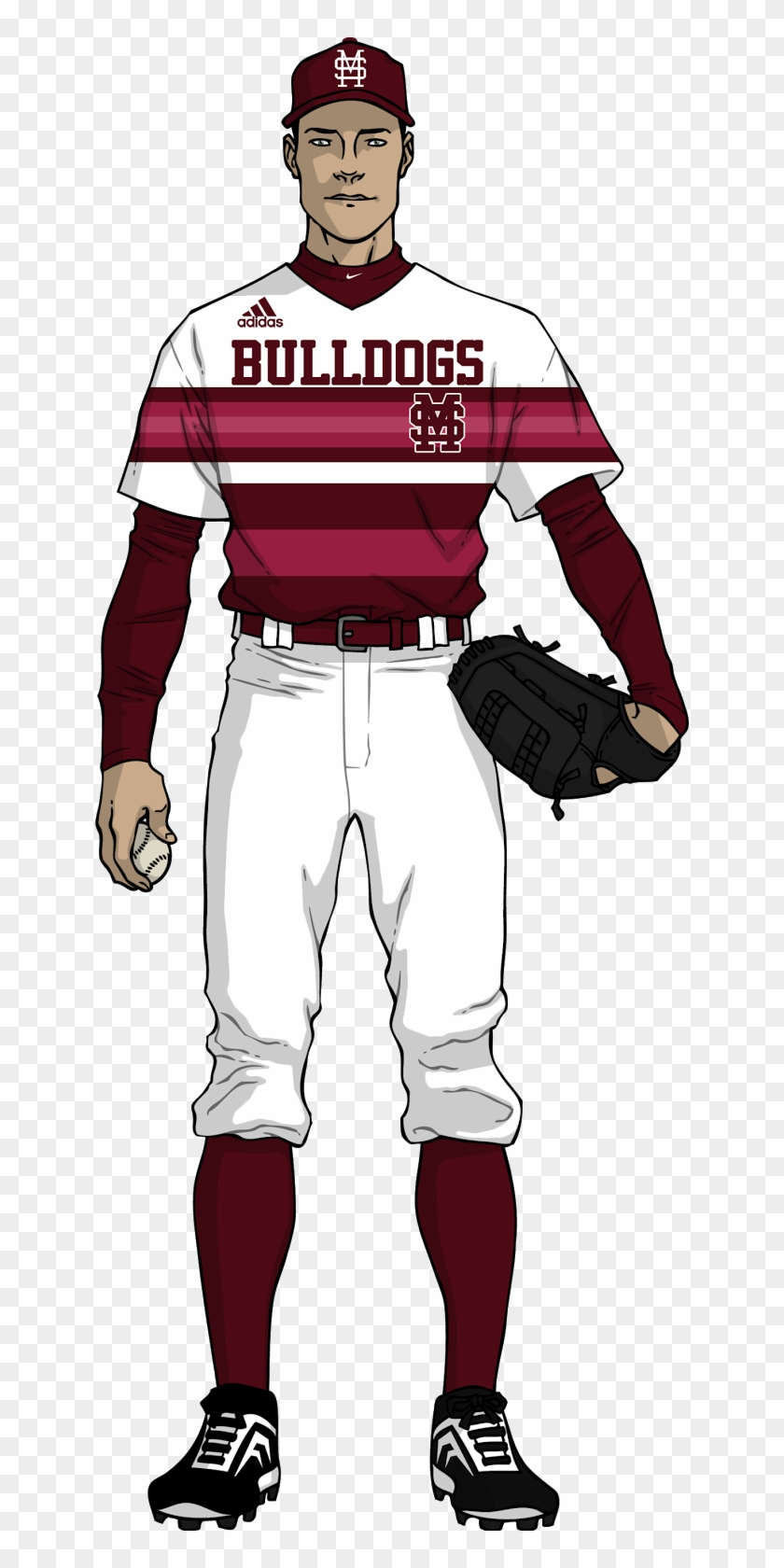 The Bulldogs Currently Have Four Hats - Mississippi State Baseball Uniforms #304637
