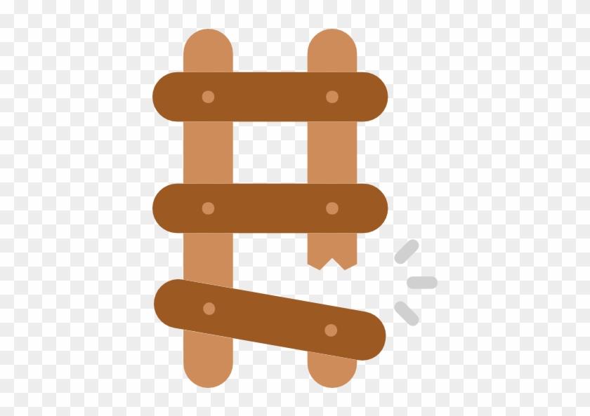Ladder Free Icon - Broken Cartoon Ladder #304648