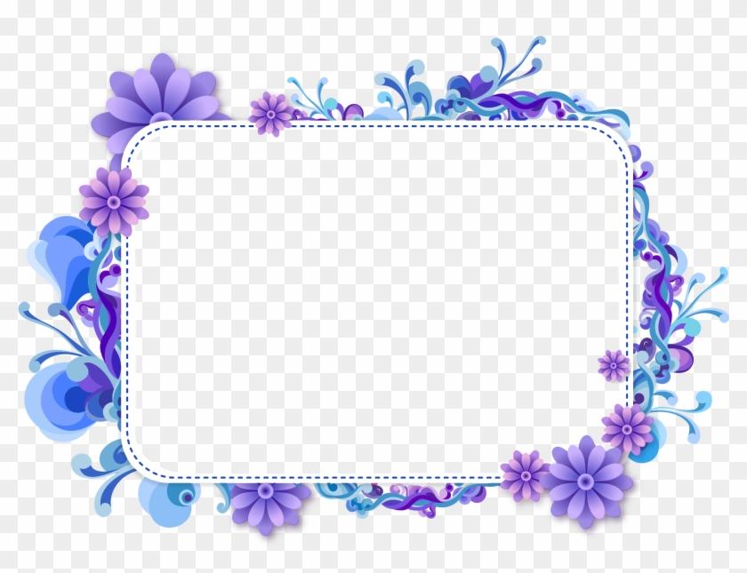 blue flower clipart top border blue flower border design free
