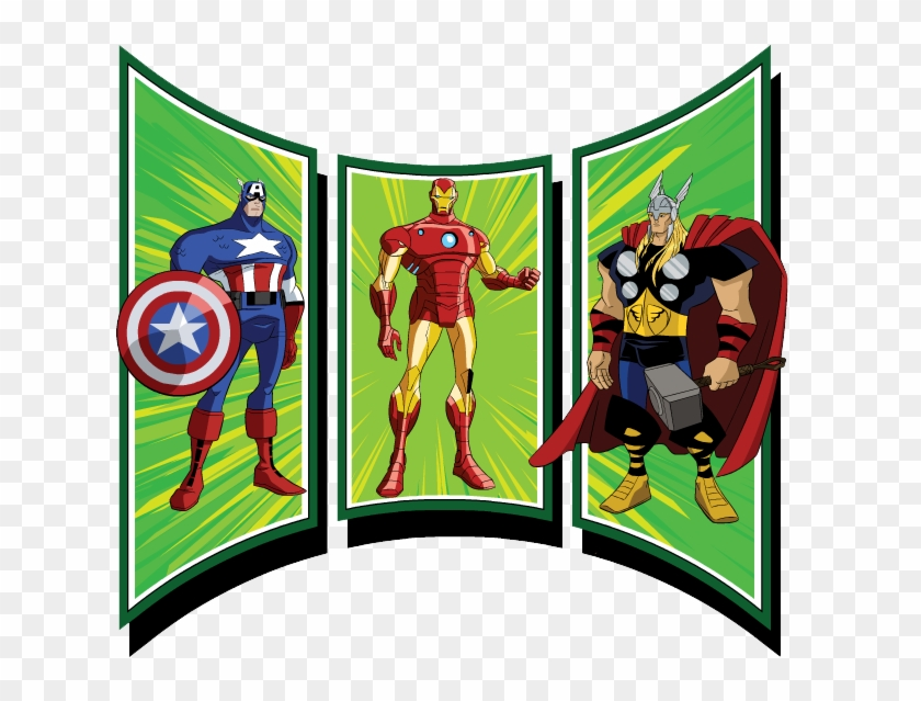 Captain America Clipart - Earths Mightiest Heroes Avengers Storybook Collection #304986