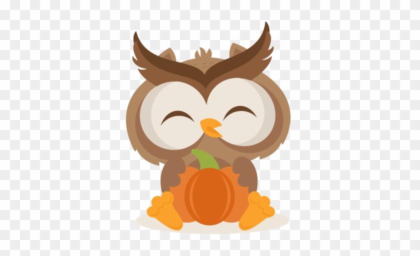 Fall Owl Svg Scrapbook Cut File Cute Clipart Files - Fall Owl Clipart #305032