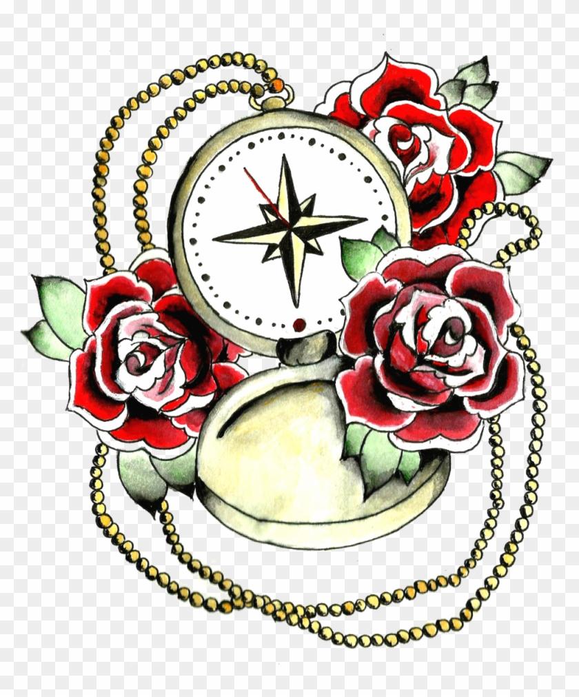 Compass Roses Tattoo Design #305335