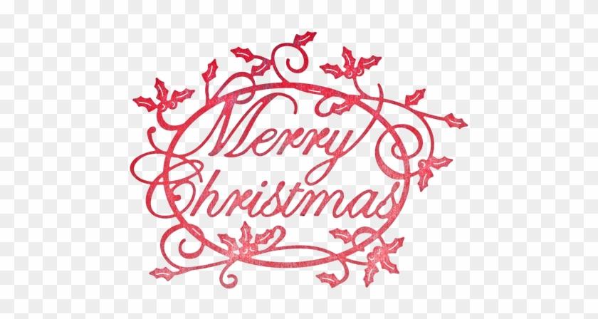 Cheery Lynn Designs Merry Christmas Holly Sentiment - Cheery Lynn Designs Die-merry Christmas Holly Sentiment #305484