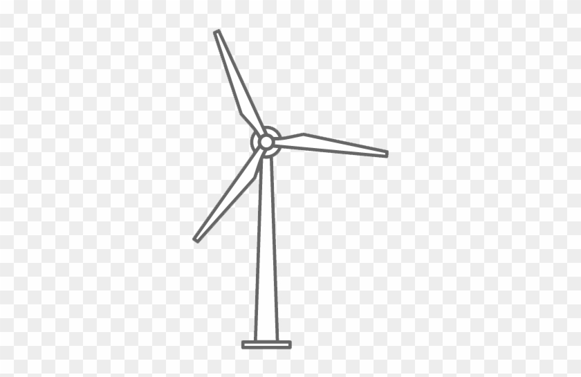 Wind Power Industry - Transparent Background Wind Turbine Clipart #305483