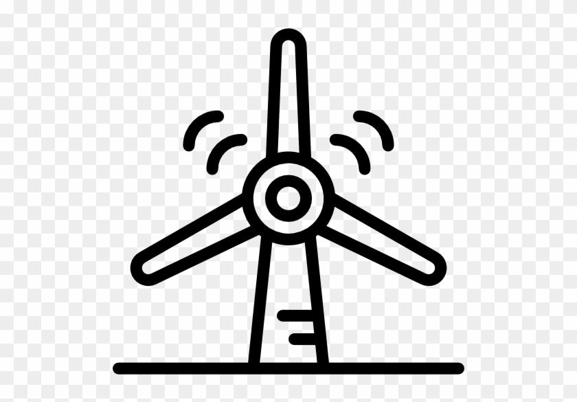 Wind Turbine Free Icon - Wind Turbine #305743