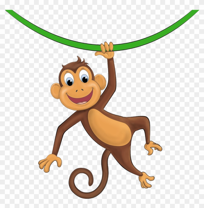 Scott Began A Path Towards Amateur Radio By Way Ofcitizen - Cartoon Monkey Hanging From Tree #305800