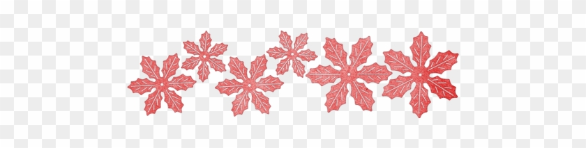 Cheery Lynn Designs Poinsettia Strip 6 Piece Die Set - Cheery Lynn Designs B324 Poinsettia Strip #305987