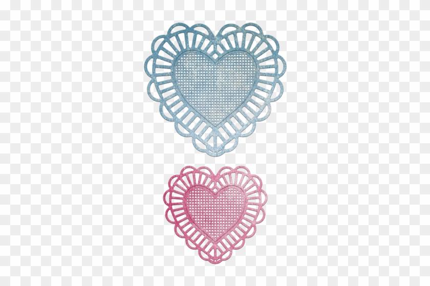 Cheery Lynn Designs Two Of Hearts Die Cut Out - Dibujos Para Aplicar El Puntillismo #306058