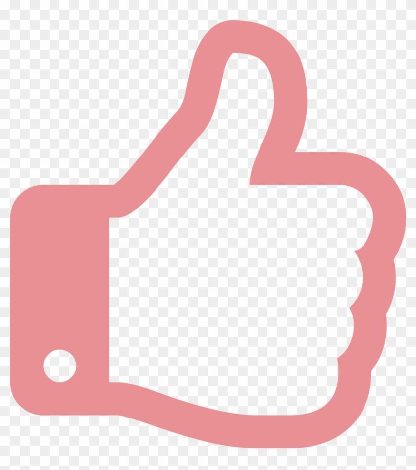 Thumb Signal Computer Icons Symbol Clip Art - Pink Thumbs Up Png #306077