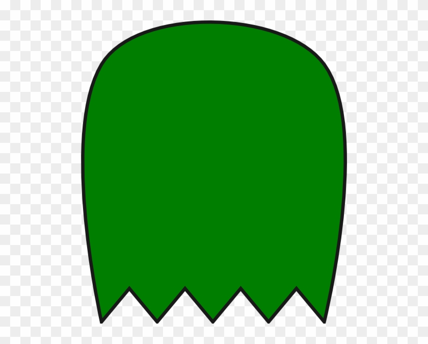 Green Pacman Ghost Clip Art At Clker - Pacman Ghost No Eyes #306162