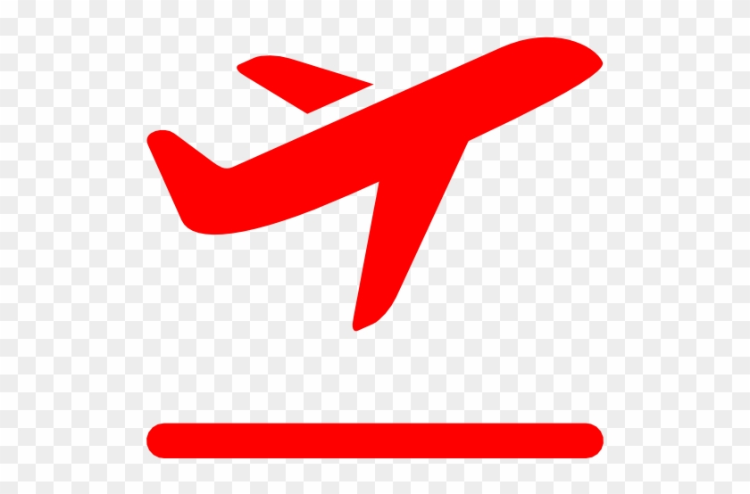 Free Red Airplane Takeoff Icon Download Red Airplane - Airplane Icon Png #306180