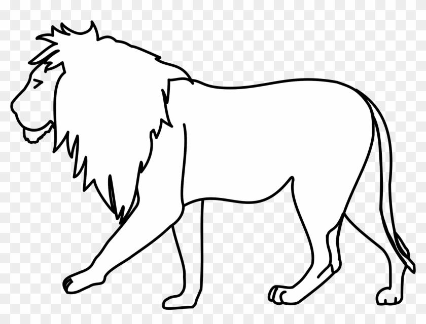 Lion Line Art - Clip Art #306315
