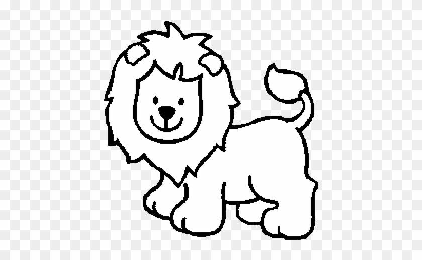 Lion And Lamb Coloring Pages - Dibujos En Blanco Y Negro De Animalitos #306606