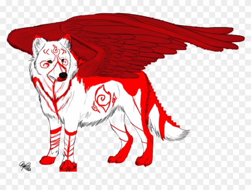 White Wolf Clipart Red Wolf - White Wolf Anime Red #307273