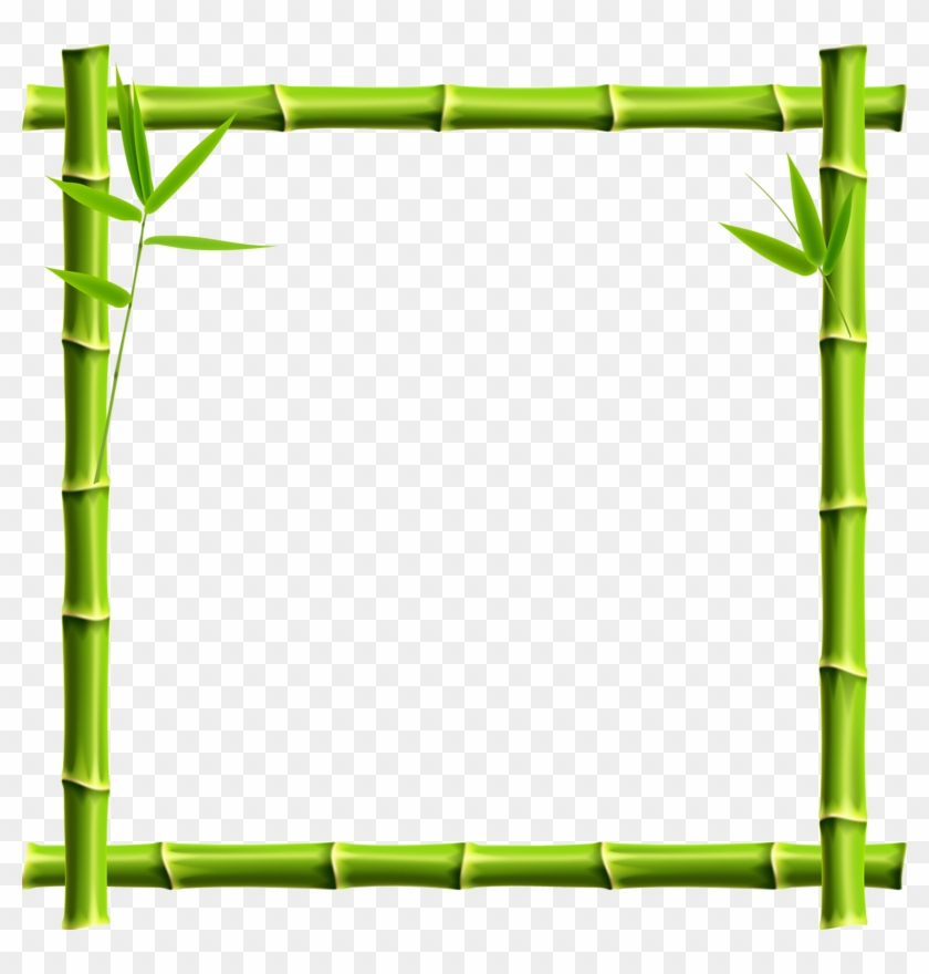 Giant Panda Picture Frame Bamboo Clip Art - Bamboo Border Png #307350