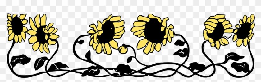 Sunflower Border Cliparts - Letter K Sunflowers Shower Curtain #307403