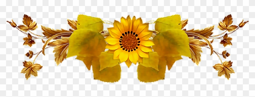Report Abuse - Sunflower Divider Png #307540