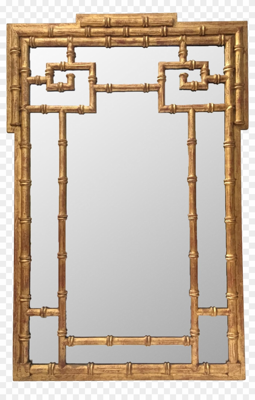 La Barge Asian Chinoiserie Gold Faux Bamboo Wall Mirror Mirror Free Transparent Png Clipart Images Download