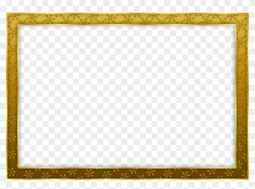Snowflake Frame D - Vintage Gold Frame Transparent #307718