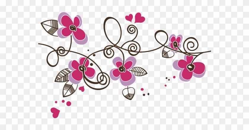 Vinilos Decorativos Flores Y Corazones Spanish - Dibujos De Flores Para Habitaciones #307955