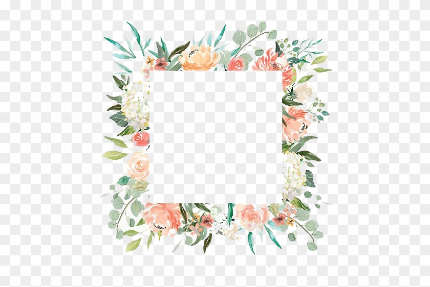 Free Romantic Watercolor Floral Frame Png - Watercolor Flower Frame Transparent Background #308018