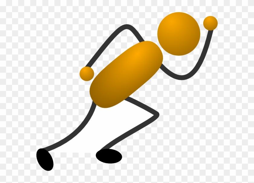 Running Stick Figures Clip Art Stick Figure Clip Art - Cartoon Stick Figure Runner #53792