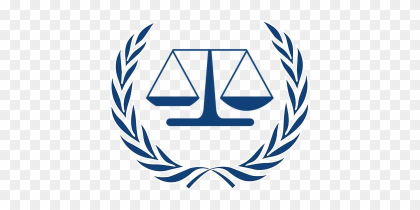 Scale Justice Judge Court Logo Law Legal J - International Criminal Court #53841