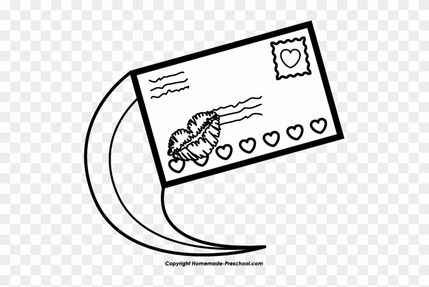 Mail Delivery Clipart - Mail Clip Art Black And White #53879